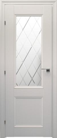 Дверь ДО 3324 (белый, остекленная CPL), фабрика Краснодеревщик