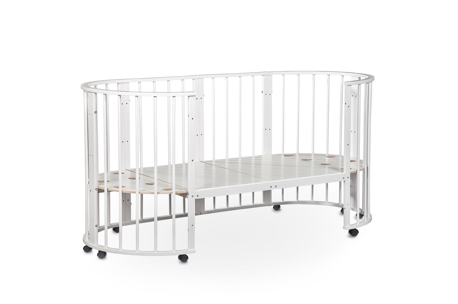 Кроватка для новорожденных трансформер Sleepy 8 в 1 с маятником Голубой