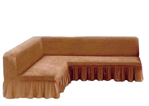 Чехол на угловой диван без подлокотников, песочный