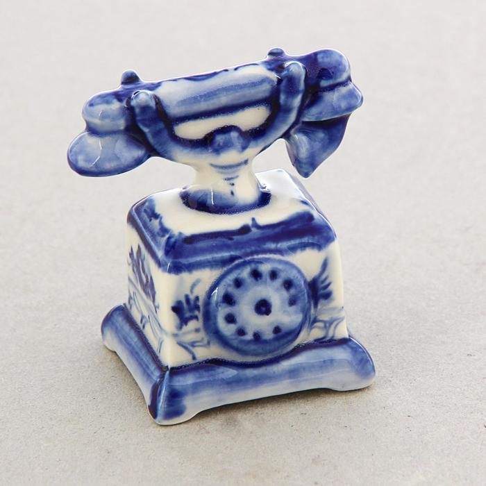 Сувенир «Телефон», гжель, кобальт