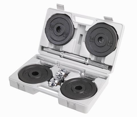 Набор разборных крашеных гантелей 2 по 10 кг в кейсе 4634CD-DL