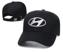 Модная бейсболка с вышивкой Хендай (Кепка Hyundai) черная