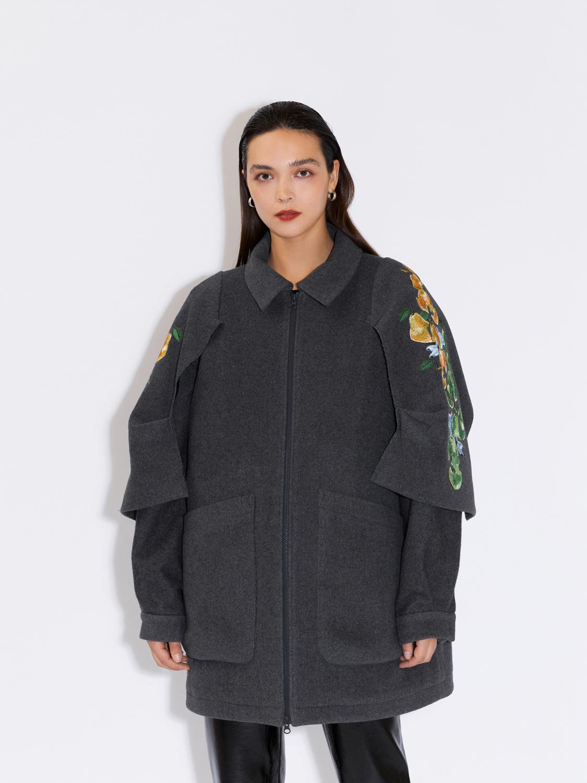 Куртка оверсайз с вышивкой