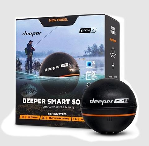 Беспроводной эхолот DEEPER SONAR PRO+2 (WI-FI, GPS)