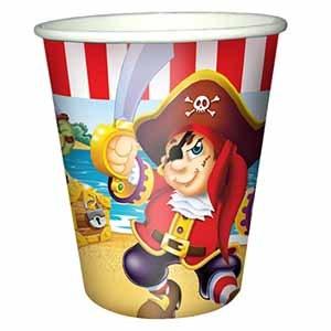 Стаканы бумажные Веселый Пират 200мл 6шт