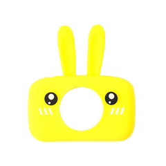 Фотоаппарат детский SmileZoom Зайчик 20 Мп / Желтый - чехол