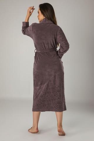 Халат женский облегченный жаккард 0435 фиолетовый NUSA Турция
