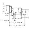 Смеситель для душа Hansgrohe Metris 31680000 схема