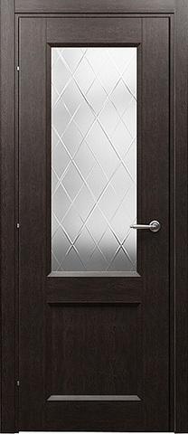 Дверь 3024 (чёрный дуб, остекленная CPL), фабрика Краснодеревщик