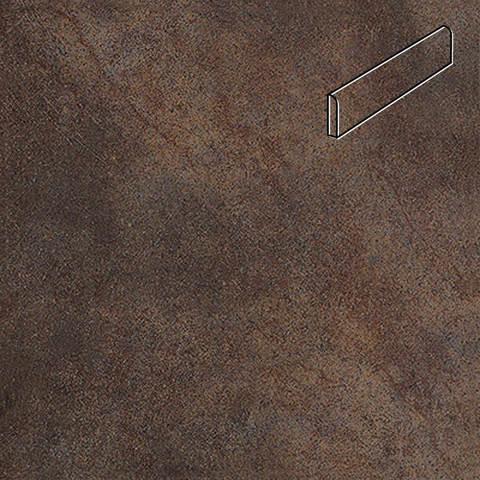 Interbau - Nature Art, Lava schwarz/Серо-коричневый, цвет 118 - Клинкерный плинтус ступени левый
