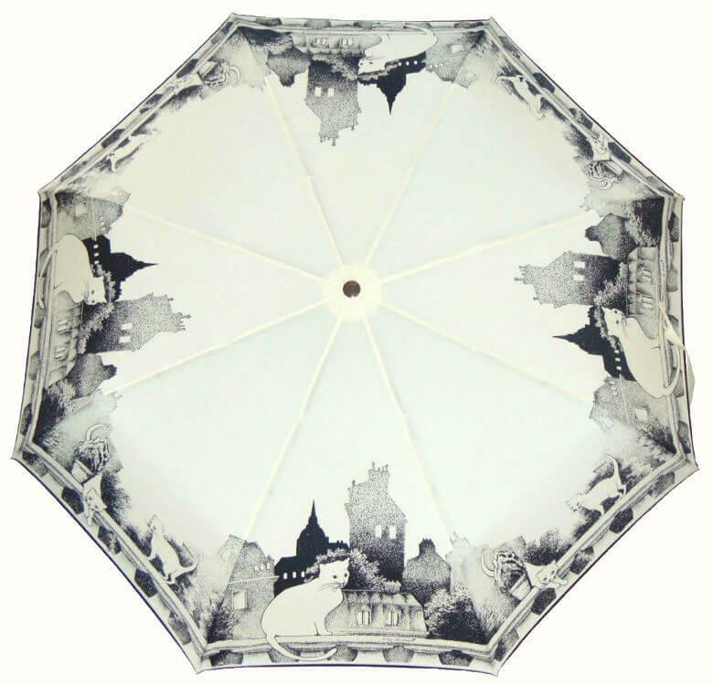 Зонт складной Guy de Jean Chat blanc