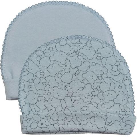 Папитто. Комплект из двух шапочек Верные друзья, медвежонок голубой