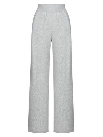 Женские брюки серого цвета из шерсти и кашемира - фото 1