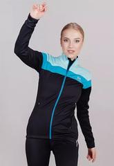 Женская утепленная лыжная куртка Nordski Drive Black-Mint W