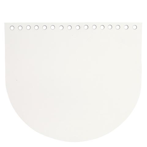 Клапан для сумочки кожаный белый