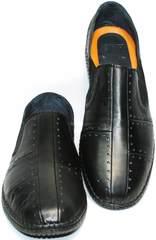 Туфли мужские летние кожаные Luciano Bellini 107607 Black.