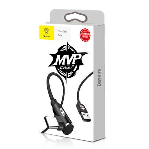 Кабель Baseus MVP Elbow Type Cable USB For Type-C 1.5A 2M Black