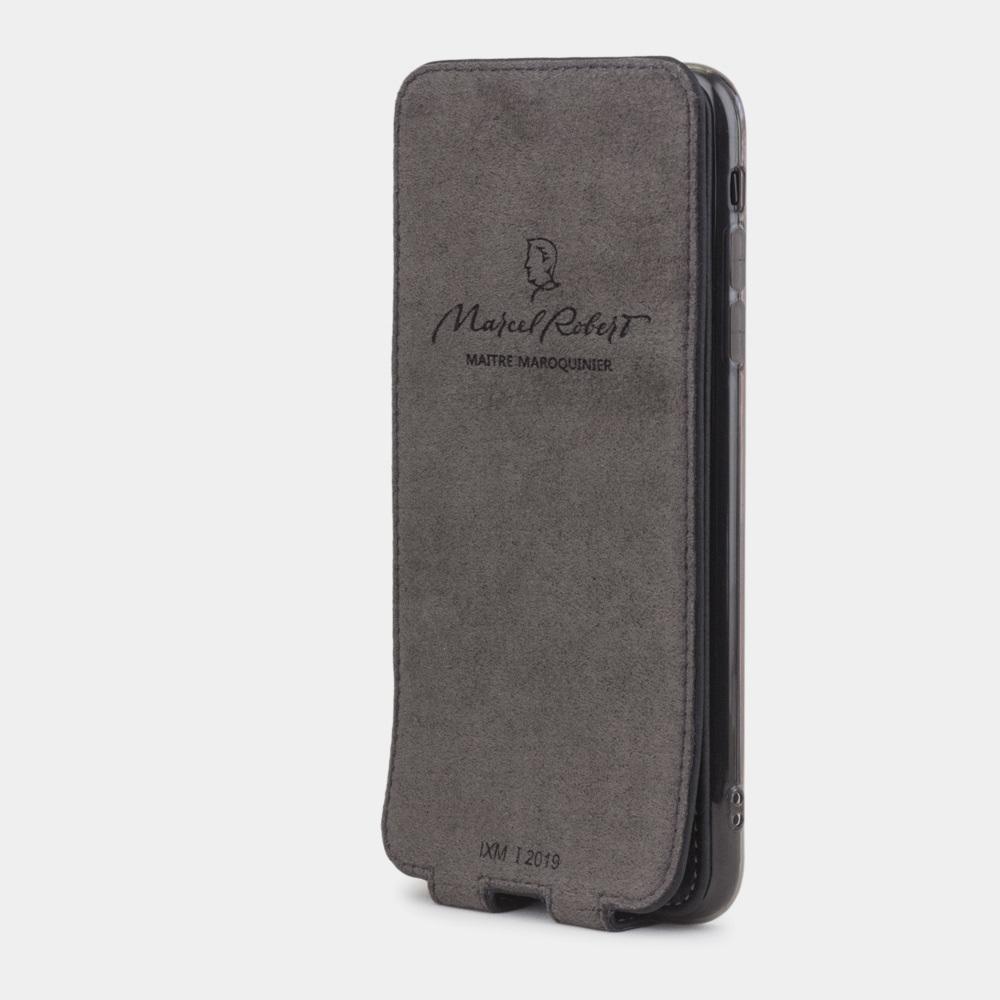 Чехол для iPhone XS Max из натуральной кожи теленка, цвета черный мат