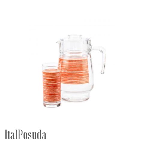 Набор питьевой Luminarc Brus Mania Orange (Браш Мания Оранж), 7 предметов P7451