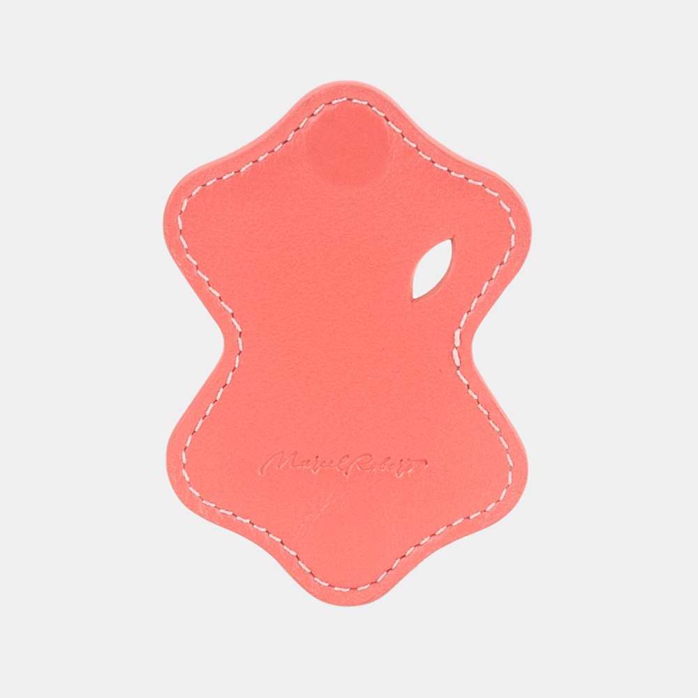 Чехол-держатель для наушников Chapeau Easy из натуральной кожи теленка, кораллового цвета