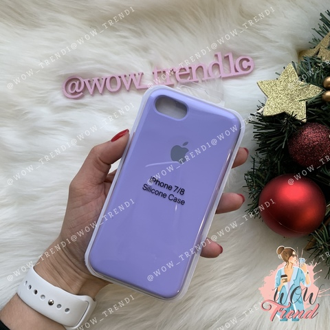 Чехол iPhone 7/8 Silicone Case /glycine/ гортензия 1:1