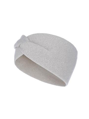 Женская повязка на голову молочного цвета из кашемира - фото 1