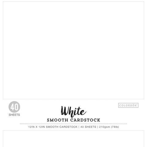 Набор кардстока 30х30 см. Colorbok  Smooth Cardstock- White -40 л