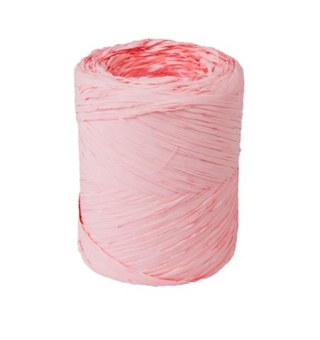 Рафия искусственная Польша 200 м Цвет:светло-розовая