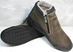 Модные зимние ботинки мужские Rifellini Rovigo 046 Brown Black.