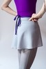 Grey wrap chiffon skirt with violet contrast ribbon | 2 lengths