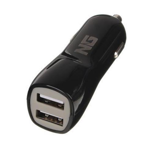 NEW GALAXY Автомобильное зарядное устройство 2USB, 2А, пластик