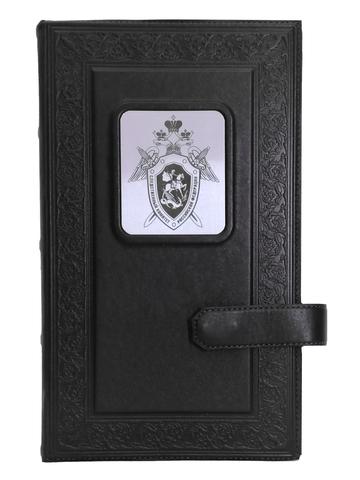Визитница настольная   Герб следственного комитета   Чёрный