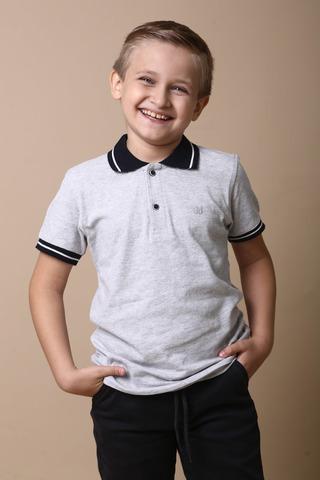 Поло для мальчика, школа синий воротник Buci Турция, 3772 (146-170)