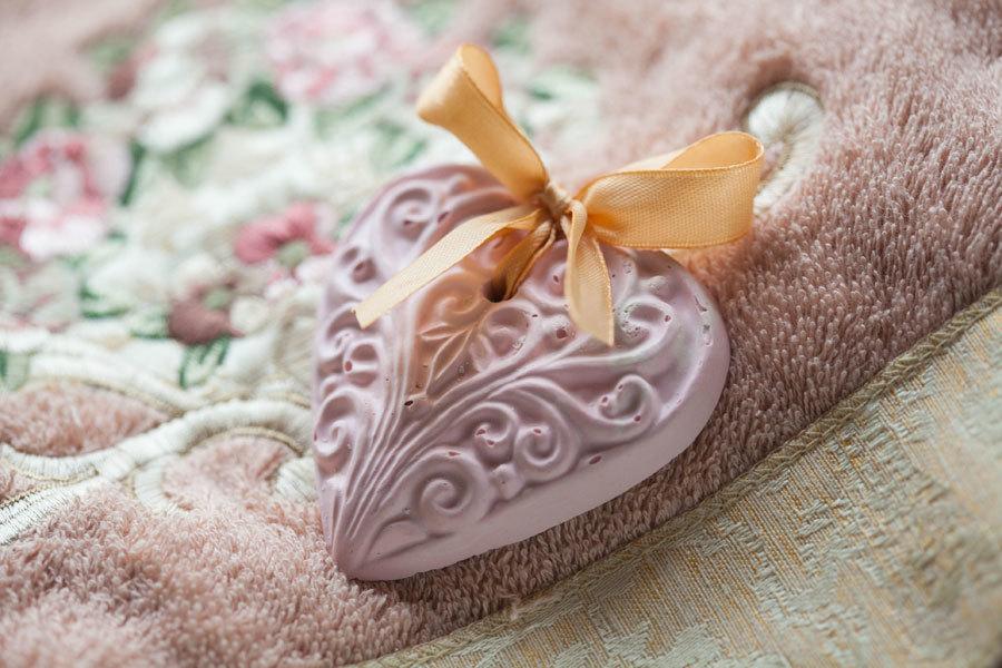 Мыло фигурное Сердце с орнаментом. Пластиковая форма