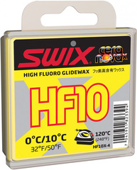 Парафин Swix HF10X-4 Yellow 0C/+10C 40гр
