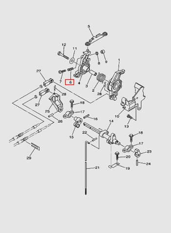 Пружина компрессионная для лодочного мотора T40 Sea-PRO (16-6)
