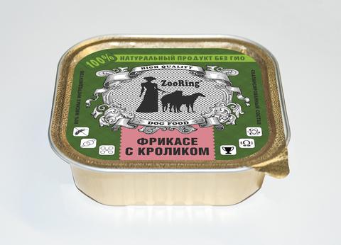 ЗООРИНГ Корм консервированный полнорационный для собак (паштет) Фрикасе с кроликом 1,6 кг.