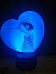 Фото-светильник в форме сердца №2
