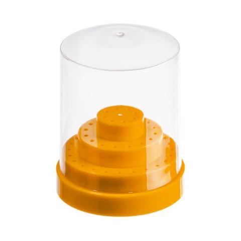 Подставка для фрез круглая, оранжевая