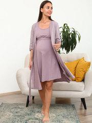 Мамаландия. Комплект для беременных и кормящих, горох/коричневый
