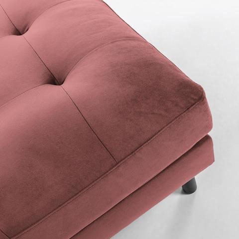 Квадратный пуф Bogart розовый бархат