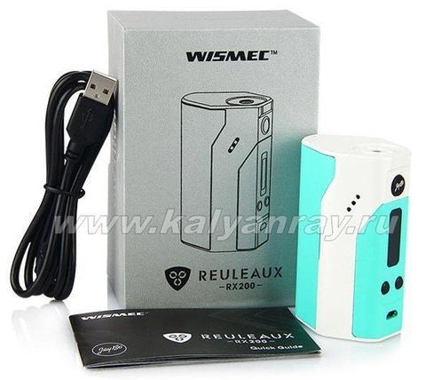 Комплектация бокс мода WISMEC Reuleaux RX200