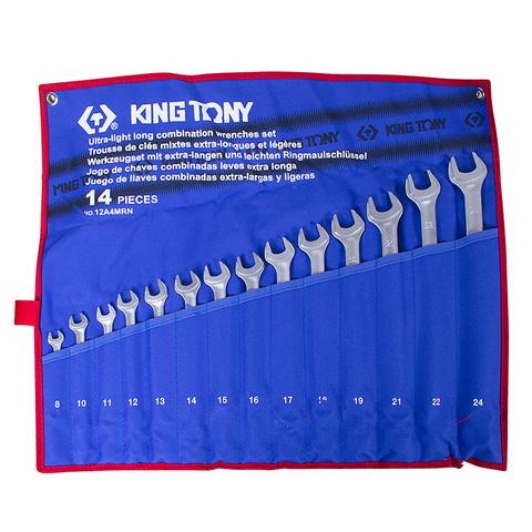 Набор комбинированных удлиненных ключей, 8-24 мм, 14 предметов KING TONY 12A4MRN