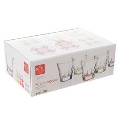 Набор стаканов для виски RCR Fusion Цветные 270 мл, 6 шт, фото 2