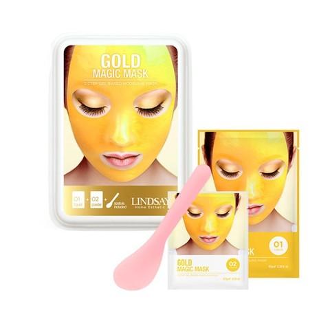 Lindsay Альгинатная гелевая маска с коллоидным золотом (пудра+гель) Gold Gel Modeling Mask