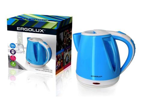 Чайник Ergolux ELX-KP02-C35 голубой/белый
