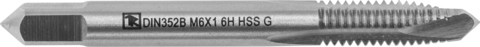 MTG508SP Метчик машинно-ручной T-DRIVE со спиральной подточкой для сквозных отверстий с направляющей в наборе М5х0.8, HSS-G