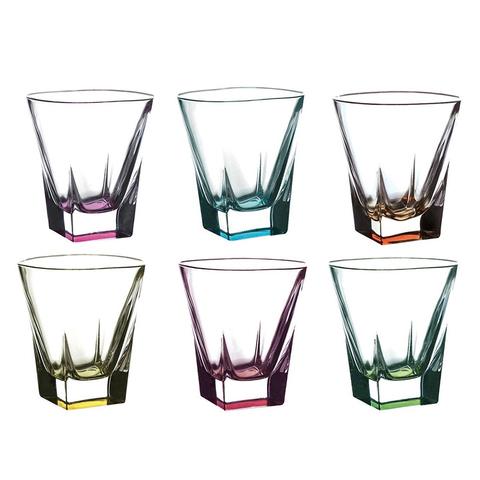 Набор стаканов для виски RCR Fusion Цветные 270 мл, 6 шт