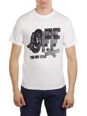 461493-45 футболка мужская, белая