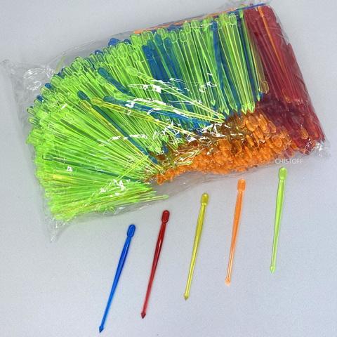 Шпажки пластиковые Пика цветные (1000 шт.)